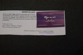 Lecture : Oedipe Village 3/5/18